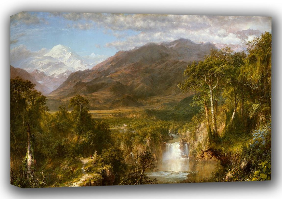 Church, Frederic Edwin: The Heart of the Andes. Fine Art Landscape Canvas. Sizes: A3/A2/A1 (001037)
